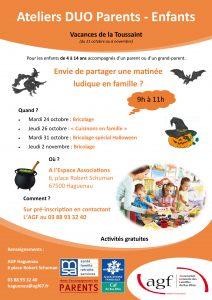 Atelier parents-enfants : bricolage d'Halloween