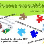 "Atelier parents-enfants : ""Jouons ensemble !"""