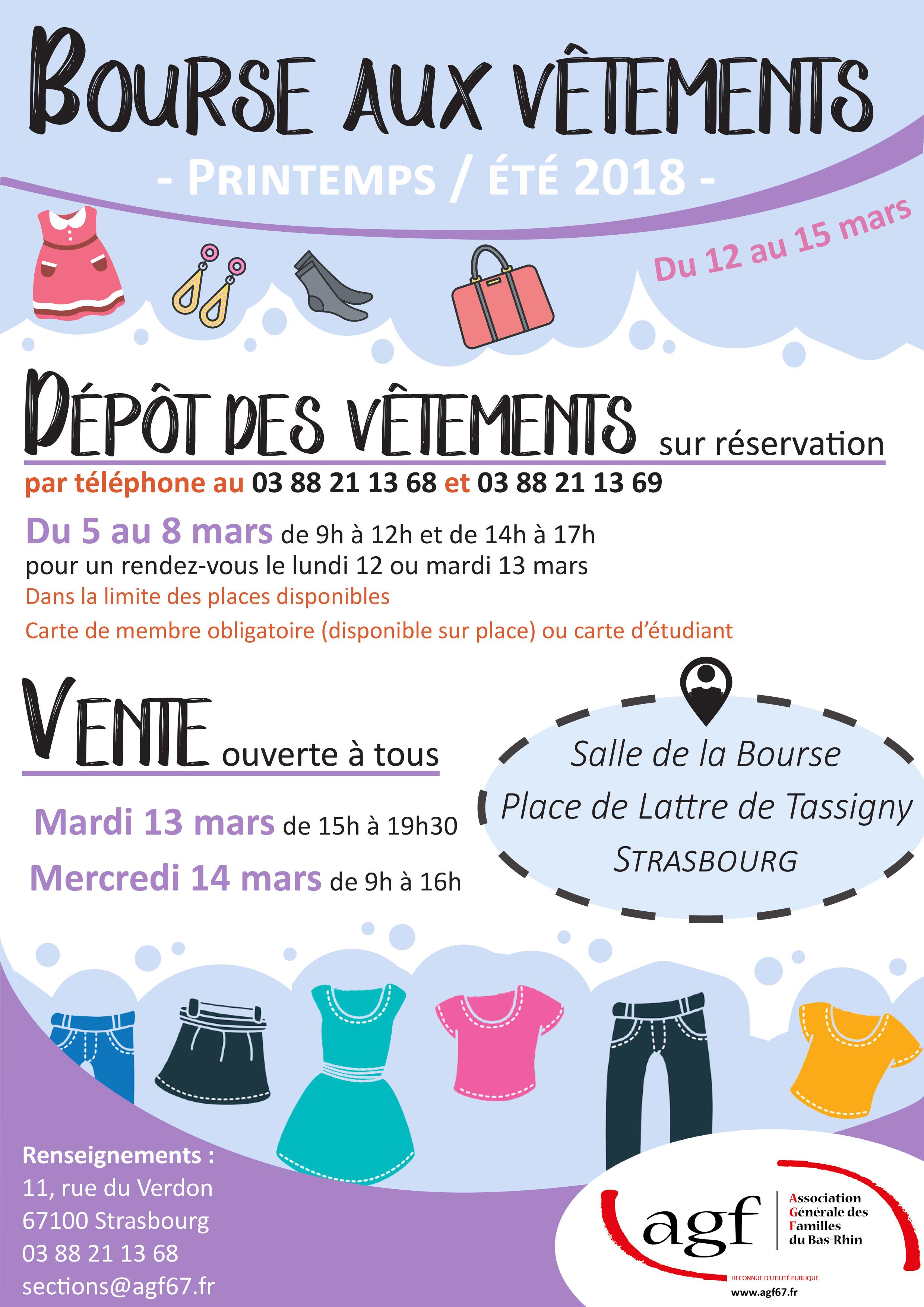 Bourse aux vêtements printemps-été à Strasbourg