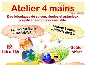 """""""Atelier 4 mains"""" : bricolage du printemps"""