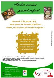 """Atelier cuisine """"Mes petits gâteaux de Noël traditionnels, ou pas !"""""""