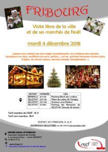 Visite libre de la ville de Fribourg et de ses marchés de Noël