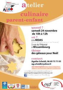 """Atelier culinaire """"des gâteaux pour Noël"""""""