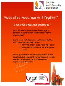 Centres de préparation au mariage : sessions 2019