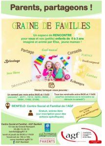 """""""Graine de familles"""" : rencontre parents-enfants (0-3 ans)"""