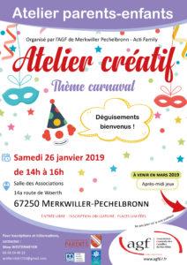 "Atelier créatif ""Carnaval"""