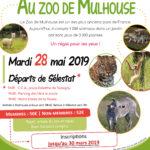 Clôture des inscriptions pour la sortie du 28 mai 2019 au zoo de Mulhouse