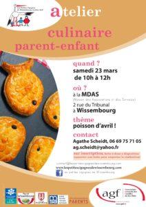 """Atelier cuisine """"poisson d'avril"""""""