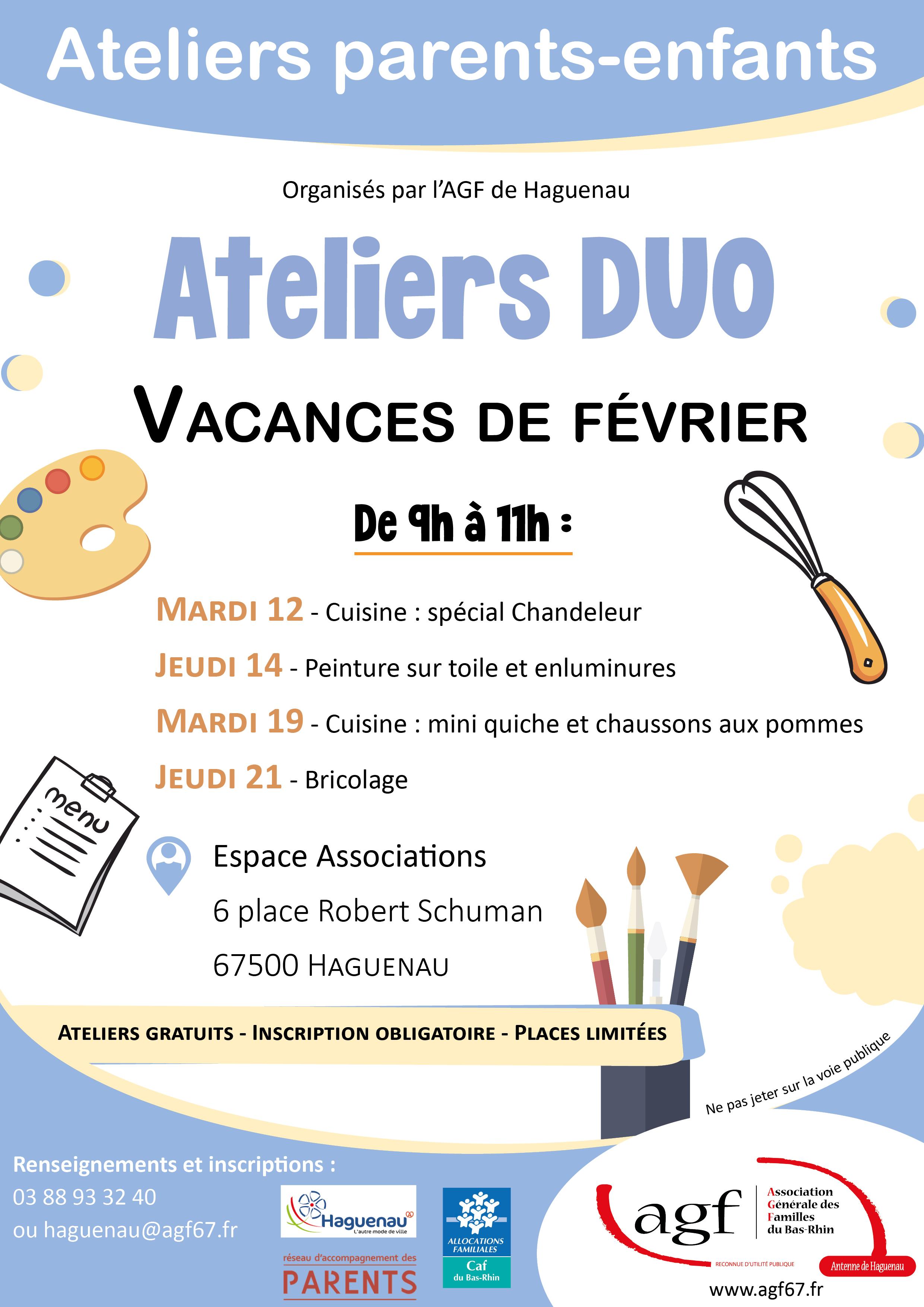"""Atelier duo """"Bricolage"""""""
