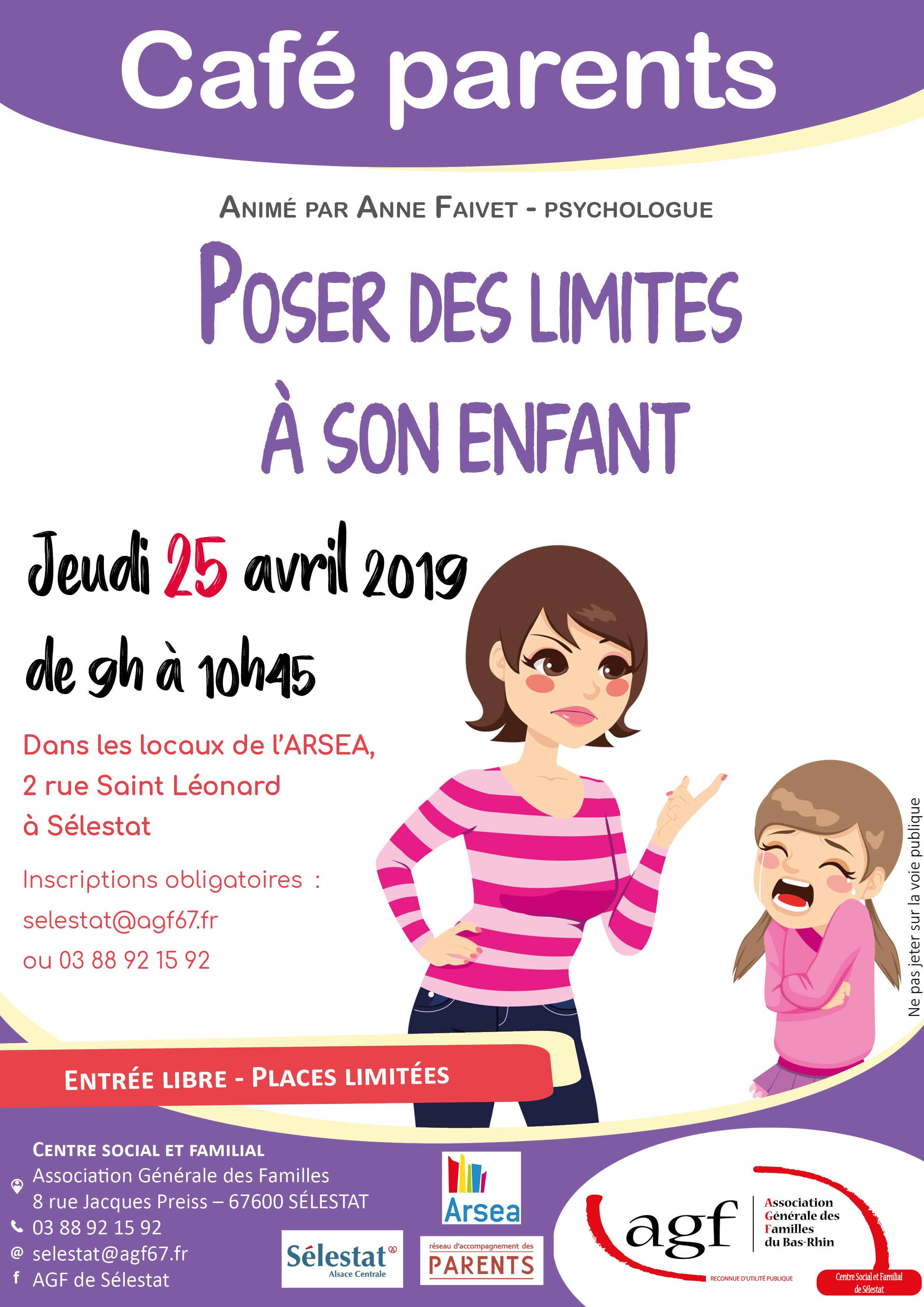 """Café parents : """"Poser des limites à son enfant"""""""