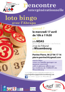Loto bingo avec l'Abrapa – rencontre intergénérationnelle