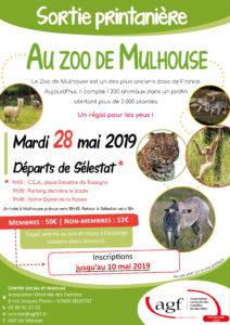 Clôture des inscriptions pour la sortie printanière au zoo de Mulhouse à partir de Sélestat