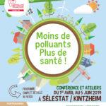 Moins de polluants, plus de santé : conférence et ateliers