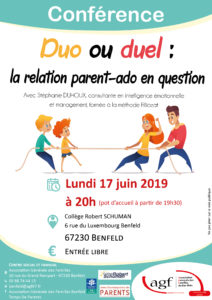 "Conférence ""Duo ou duel : la relation parent-ado en question"""