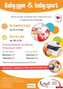 Séance de baby gym & baby sport (3 mois à 5 ans)