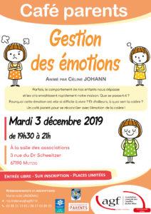 """Café-parents """"Gestion des émotions"""""""