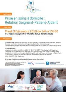 """Conférence """"Prise en soins à domicile : relation soignant-patient-aidant"""""""