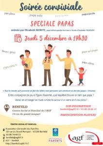 """Soirée conviviale """"Spéciale papas"""""""