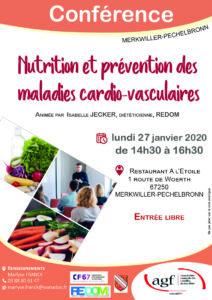 """Conférence """"Nutrition et prévention des maladies cardio-vasculaires"""""""