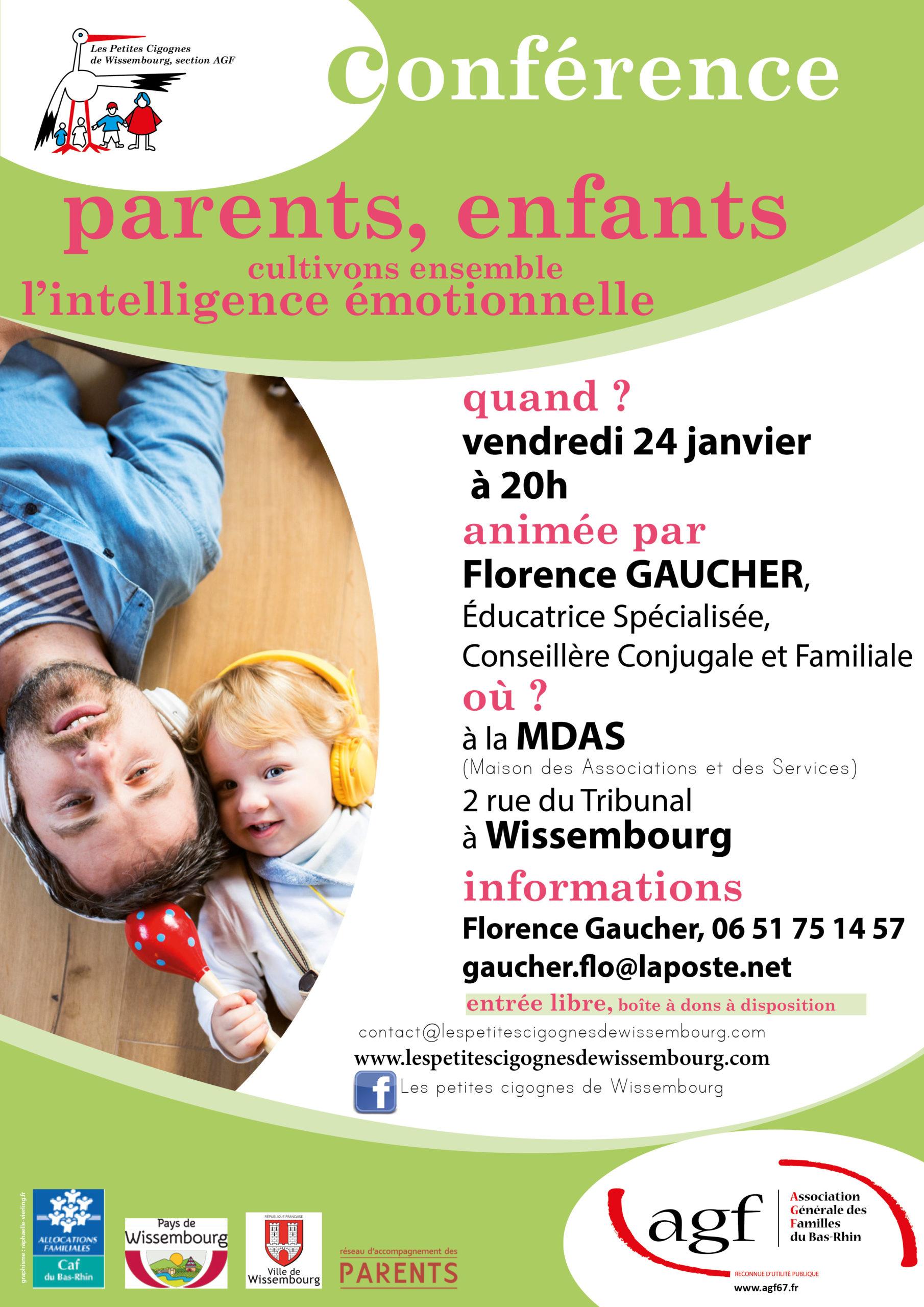 """Conférence Parents Enfants """"Cultivons ensemble l'intelligence émotionnelle"""""""