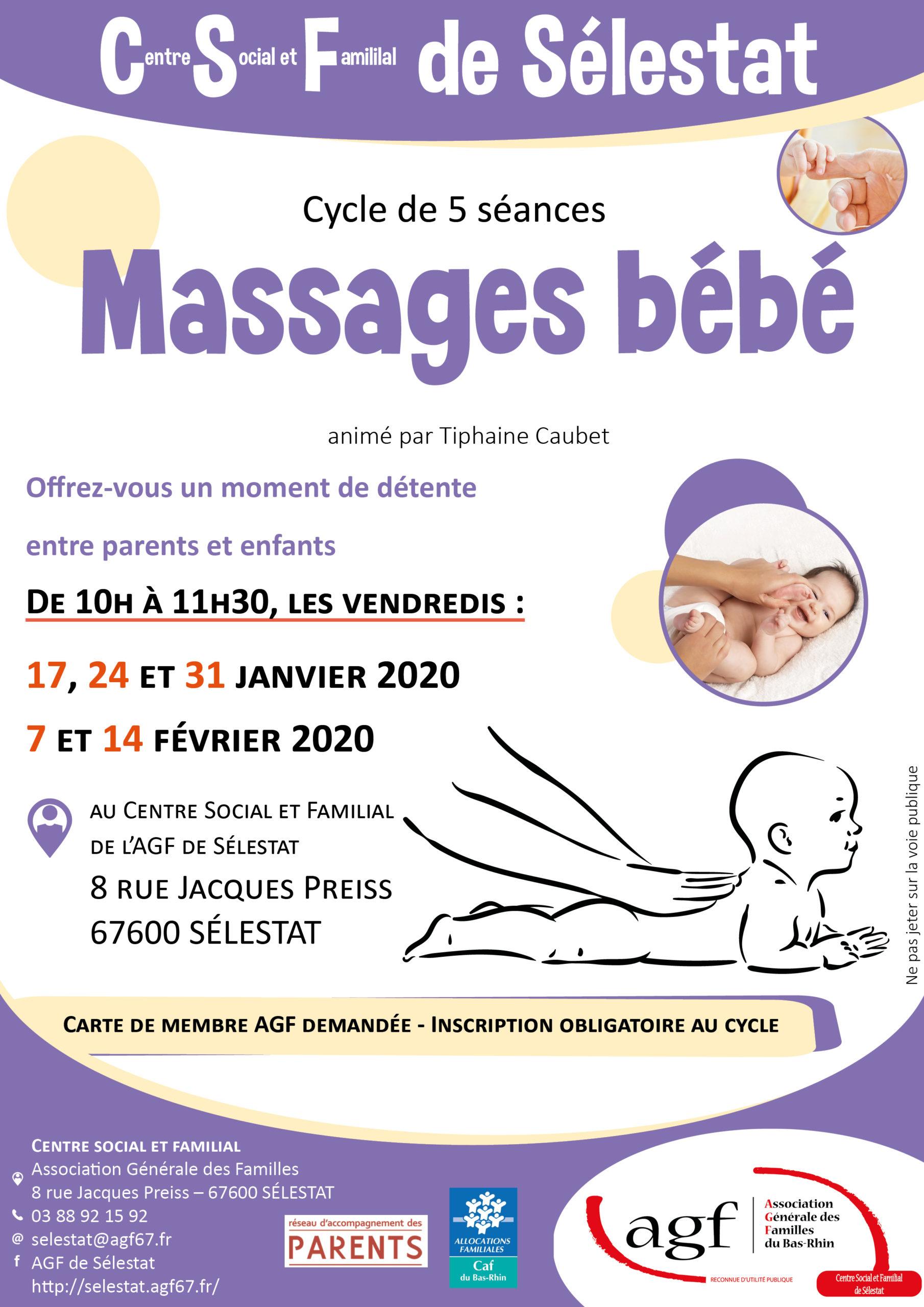 """Cycle """"Massages bébé"""""""