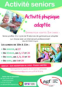 Activité seniors – Activité physique adaptée (Saasenheim)