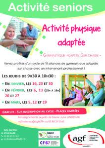 Activité seniors – Activité physique adaptée (Barr)
