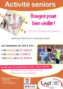 Activité seniors – Activité physique adaptée, Maison des associations te des Services (Wissembourg)