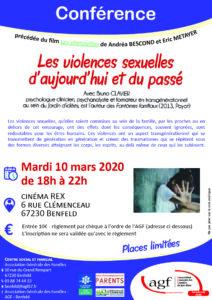 """Conférence """"Les violences sexuelles d'aujourd'hui et du passé"""""""