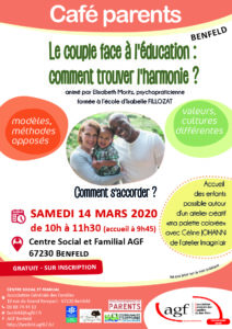 "Café parents ""Le couple face à l'éducation : comment trouver l'harmonie ?"""