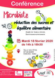 """Conférence """"Microbiote, réduction des sucres et équilibre alimentaire"""""""