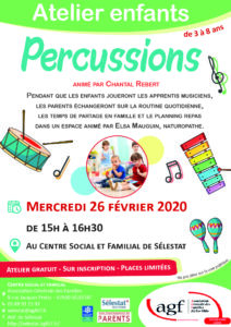"""Atelier """"Percussions"""""""