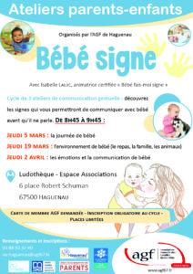 """Ateliers parents-enfants """"Bébé signe"""""""