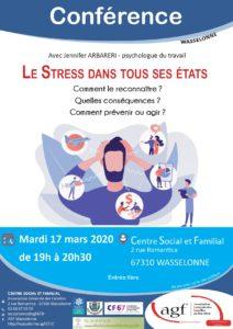 """Conférence """"Le stress dans tous ses états"""""""