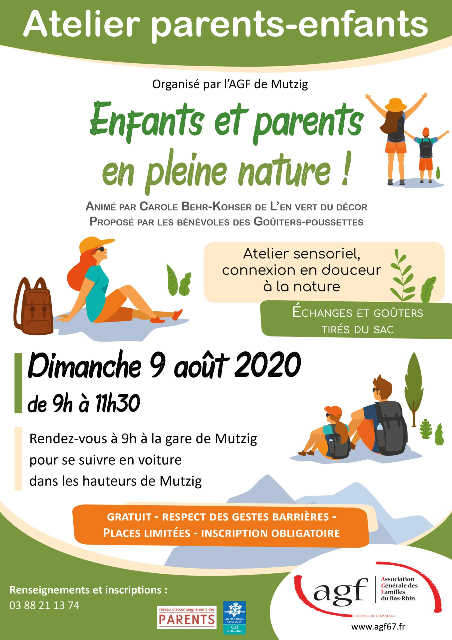 Enfants et parents en pleine nature !