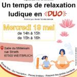 """Atelier parents-enfants """"Un temps de relaxation ludique en duo"""""""