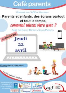 """Café parents """"Parents et enfants, des écrans partout et tout le temps, comment mieux vivre avec ?"""""""