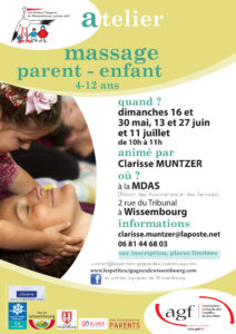 """Atelier """"Massage parent-enfant"""" (4-12 ans)"""