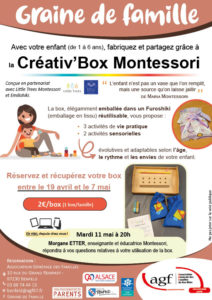 """Graine de famille """"La créativ'Box Montessori"""""""