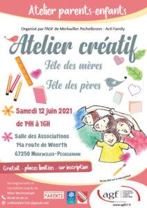 """Atelier parents-enfants : """" Atelier créatif : fête des mères et des pères"""""""
