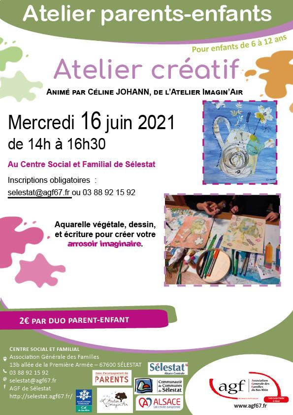 """Atelier parents-enfants : """"Atelier créatif"""""""