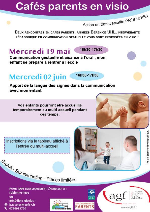 """Café parents en visio : """"Apport de la langue des signes dans la communication avec mon enfant"""""""