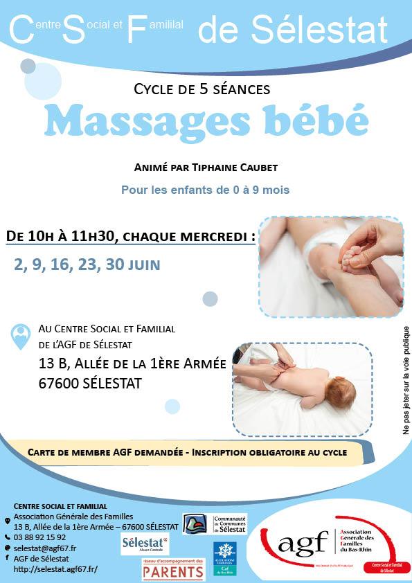 """Cycle de 5 séances : """"Massages bébé"""""""