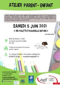 """Atelier parents-enfants : """"Ma palette d'aquarelle nature"""""""
