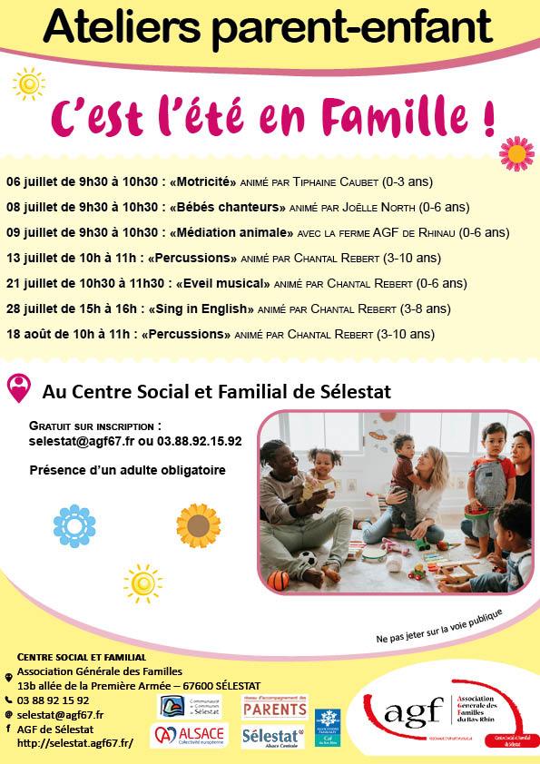 Ateliers parents-enfants : C'est l'été en famille !