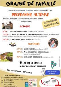 Graine de famille « Programme automne : Le brico des ptits monstres »